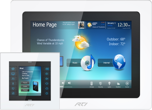 RTI InWall Touchpanel - CX7, KX2